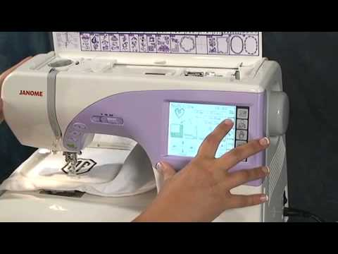 Janome Memory Craft 40 Demonstration YouTube Delectable Janome Memory Craft Mc 9700 Sewing And Embroidery Machine