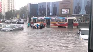 20.06 Курск,  ливень затопил улицы города