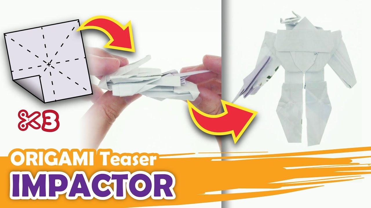 Transforming a DECEPTICON IMPACTOR Origami Transformer