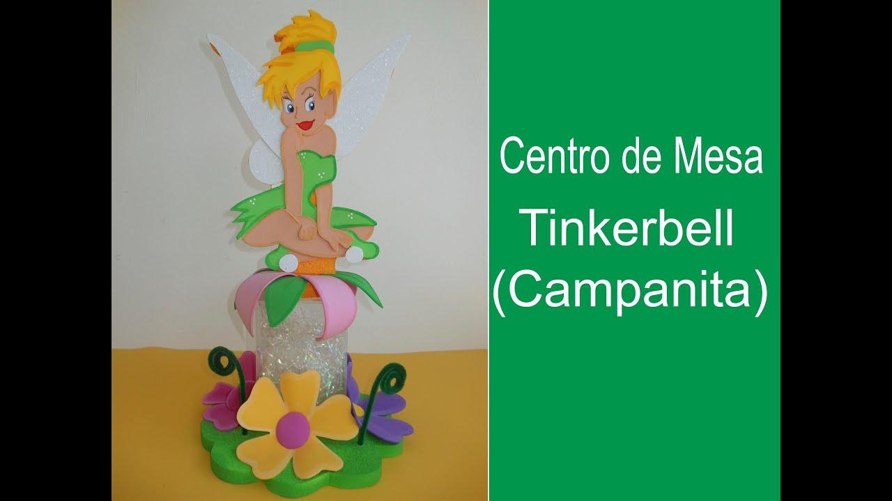 Centro de Mesa Tinkerbell (Campanita) - YouTube
