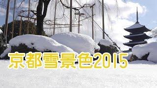 京都雪景色2015|伏見稲荷大社・鴨川・渡月橋・天龍寺・嵯峨野竹林・東寺五重塔