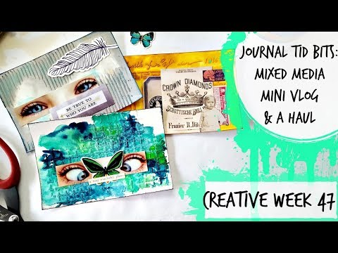 Journal Tids Bits: Creative Week 47: Mixed Media Cards, Mini Vlog & Haul