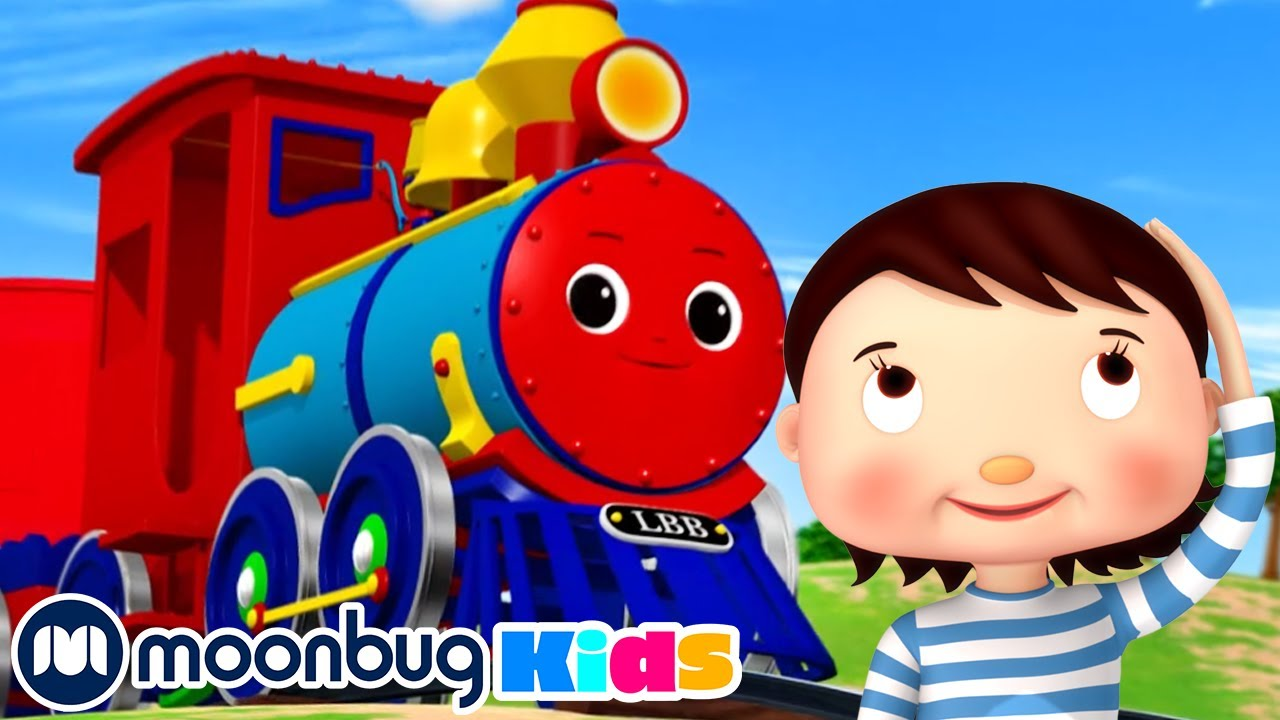 Draw Shapes With LBB Train Song | Little Baby Bum |  Trains for Children | Moonbug for Kids