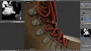Timelapse modeling shoe in Blender 3D