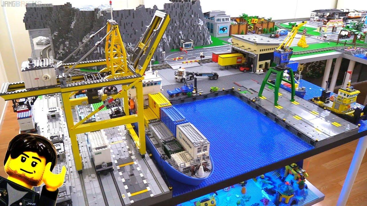 Lego city update harbor warehouse rail crossing more tiling feb 7 2018 youtube - Image lego city ...