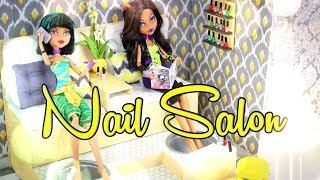How to Make a Doll Nail Salon: Foot Spa - Doll Crafts