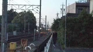 迫力の高速通過 名鉄3100系+2200系