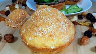 БЕЗ ЗАМЕСА Без пшеничной муки Без дрожжей Быстрый рецепт булочек вместо Хлеба на РАЗ ДВА