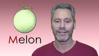 子供英語 アルファベットの発音 M - Melon: Your Child Can Learn the 26 Capital Letters of the Alphabet