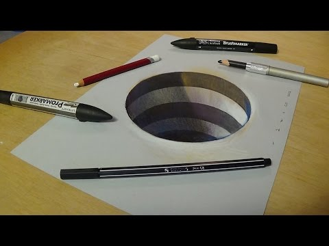 How to Draw 3D Circular Hole