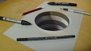 How to Draw 3D Circular Hole - Trick Art for Kids