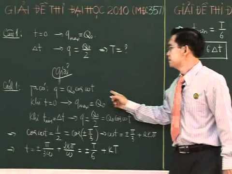 Giải đề thi đại học môn Lý (P1) - Thầy Nguyễn Đức Hoàng