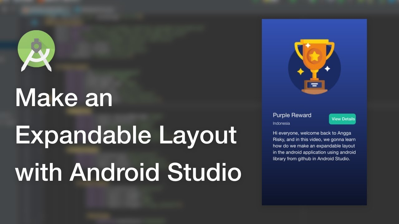 Expandable Layout UI Design Android Studio Tutorial