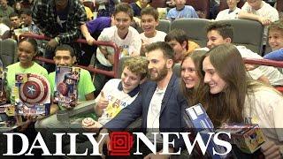 Chris Evans surprises kids at Daily News charity screening of 'Captain America: Civil War'