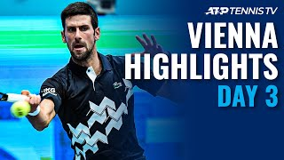Djokovic Riding High; Tsitsipas too Rough for Struff | Vienna 2020 Day 3 Highlights