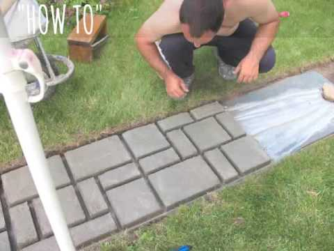 How to make cobblestone-look walkway | COMPLETE TUTORIAL