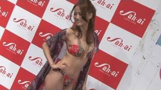 2011三愛水着イメージガール発表会が都内で行われ、タレントの北川富紀...