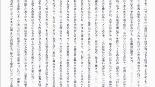 朗読出所:朗読【名作をよむ】TEDの声 http://www.voiceblog.jp/ted606/