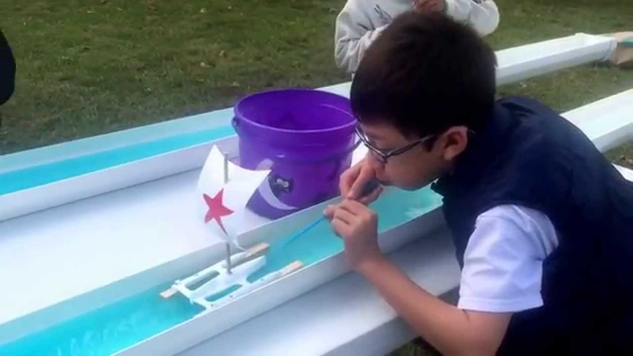 Rain Gutter Sail Boat Racing Youtube