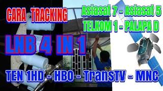 Cara Pasang LNB 4 in 1 Palapa Telkom Asiasat 7 asiasat 5 | Tracking Satelit | How to Install LNB 4