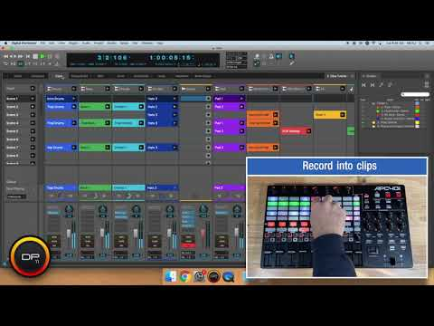 Clip triggering in Digital Performer with Akai and Novation pad controllers