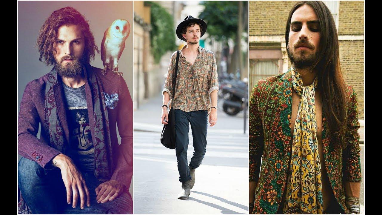 men hippie style for