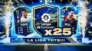 25 X GUARANTEED LA LIGA TOTS PLAYER PACKS!!! FIFA 21