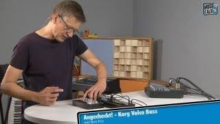 Test - Korg Volca Bass analoger Bass Synthesizer - deutsch