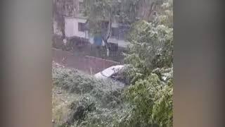 В селе Воронцовка пошел снег