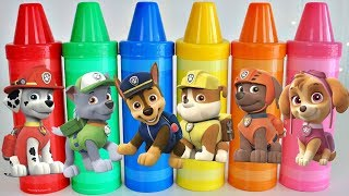 Paw Patrol Vehicles Learn Colors with Gi...