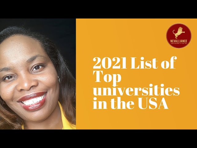 2021 List of top Universities in the USA