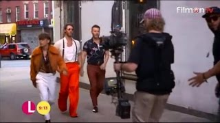 Take That - Hey Boy - Behind The Scenes on Lorraine 2-11-15