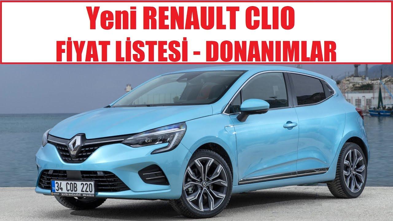 yeni renault clio 5 fiyat listesi ve donanimlar