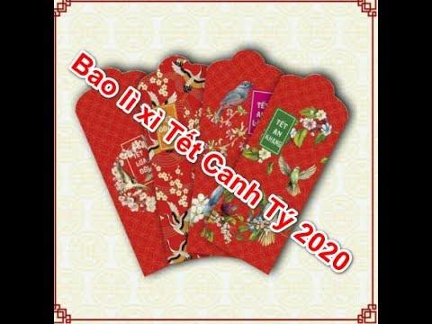 Nơi bán Combo 100 Bao lì xì Tết Canh Tý 2020 đủ mẫu giá rẻ