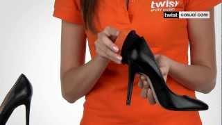 губка для ухода за обувью из гладкой кожи Твист