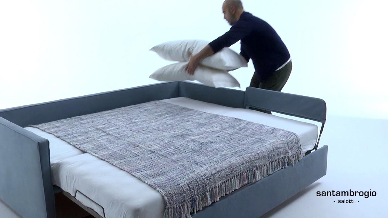Divano letto estraibile, letto a scomparsa matrimoniale - Sofa bed, hide a  bed