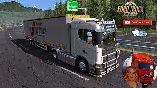 Euro Truck Simulator 2 (1.34)   Scania S & R Next Gen Accessories Chrome Wien to Linz Austria Schmitz Trailer Hupa Curtain by MD Modding + DLC's & Mods https://ets2.lt/en/scania-s-r-next-gen-accessories-chrome/  Support me please thanks Support me economi