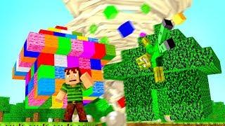 TORNADO vs. REGENBOGEN & BLÄTTER HAUS?! - Minecraft TORNADO