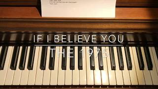 if i believe you - the 1975 cover