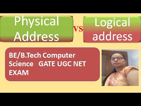 Difference between physical and logical address space