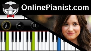 demi lovato really don t care ft cher lloyd piano tutorial sheets easy