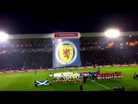 Flowers of Scotland, Glasgow, Scotland - Belgium 6/9/2013