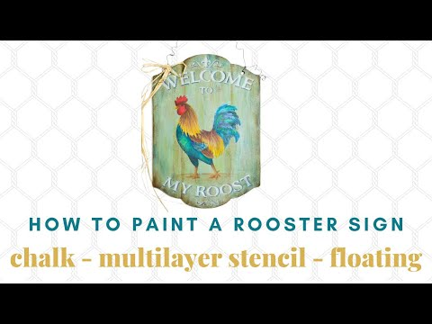 Welcome To My Roost Tole and Decorative Painting by Patricia Rawlinson