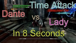 Devil May Cry 4 Special Edition Mission 1 Lady VS Dante Time Attack(Speedkill) In 8 Seconds [DMC4SE]