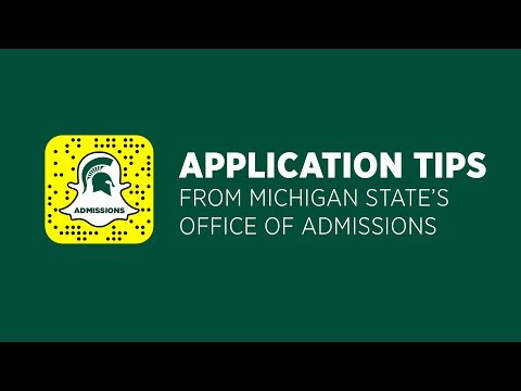 MSU Application Tips