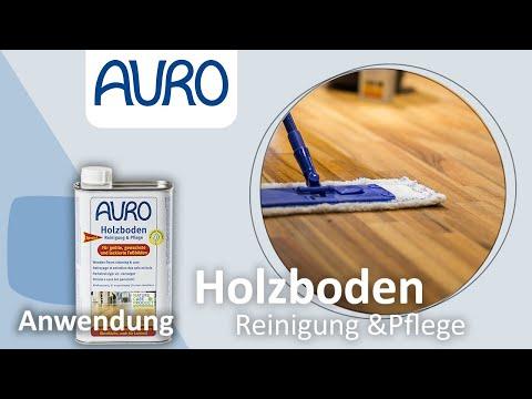 AURO Anwendung Holzboden Reinigung & Pflege