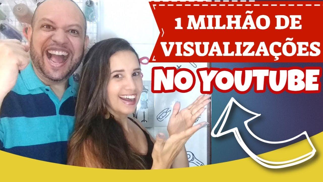 Como Conseguimos 1 MILHÃO DE VISUALIZAÇÕES no Youtube! Algumas Sacadas Aqui!