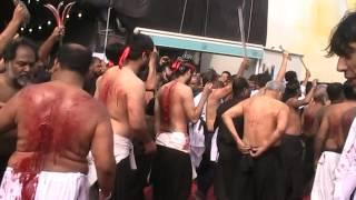 Zafar Karbalai  Zanjeer Zani in Karbala on Aashurra Muharram 1436..04 Nov 2014 part.2.