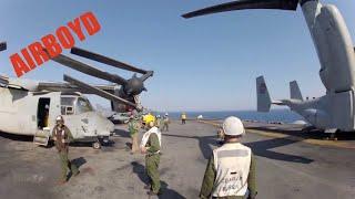 Fast Rope POV CH-53E Super Stallion USS Kearsarge (LHD-3)