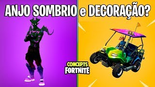 FORTNITE Concepts-DARK ANGEL SKIN and VEHICLE DECORATION?